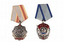 TWO MILITAR ORDERS, SOVIET UNION
