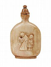 FIRST HALF OF 20th CENTURY CHINESE CANTON STYLE SNUFF BOTTLE