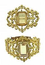 BRACELET AND BROOCH SET 19th CENTURY