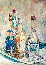 Diosdado Lorenzo - Still Life with Bottles