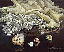 Araceli Dans - Untitled (Still Life with Shells and Lace)