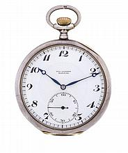 PAUL DITISHEIM Sterling Silver Open Face Pocket Watch