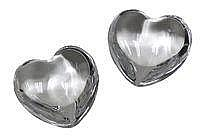 Bacarrat Pair of crystal hearts