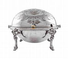 A sterling silver chafing dish