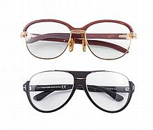 Cartier / Tom Ford - A lot of two eyeglass frames in as-new condition