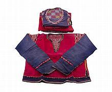 A lot of six tribal textiles