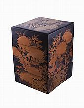 A Japanese lacquer box
