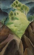 CESAR LEGASPI - Untitled (Mountain Scene)