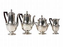 A four piece sterling silver coffee and tea service