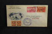 1937 First mail flight from Manila to Macao