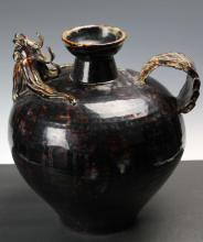Chinese black glaze ewer