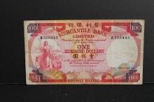 HK Mercantile bank 100 dollar