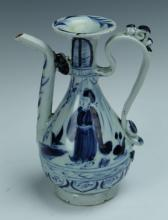 A Blue and White Porcelain Ewer
