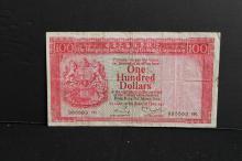 1980 HK  bank 100 dollar