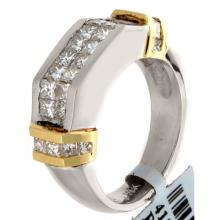 Genuine 18K 2Tone Gold 1.35ctw Diamond Ring