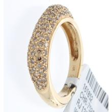 Genuine 14K Yellow Gold 0.78ctw Brown Diamond Ring