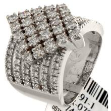 Genuine 18K White Gold 1.94ctw Diamond Ring