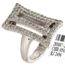 Genuine 14K White Gold 0.68ctw Diamond Ring
