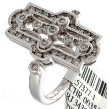 Genuine 18K White Gold 0.79ctw Diamond Ring
