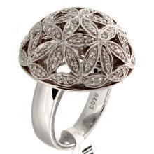 Genuine 14K White Gold 0.78ctw Diamond Ring