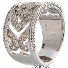 Genuine 14K White Gold 0.38ctw Diamond Ring