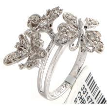 Genuine 14K White Gold 0.42ctw Diamond Ring