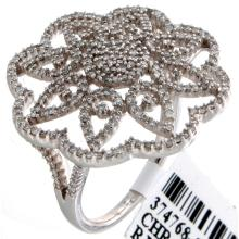 Genuine 14K White Gold 0.86ctw Diamond Ring