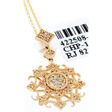 Genuine 14K Yellow Gold 0.15ctw Diamond Pendant