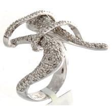 Genuine 14K White Gold 1.63ctw Diamond Ring