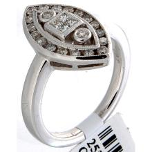 Genuine 18K White Gold 0.50ctw Diamond Ring