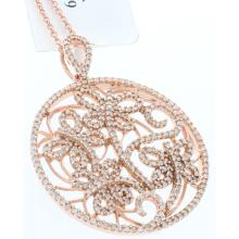 Genuine 14K Rose Gold 0.79ctw Diamond Pendant