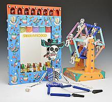 Day of the Dead Ferris Wheel, Skeleton & Mirror