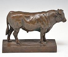 Antoine-Louis Barye, Bull Bronze, 19th c.
