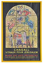 Marc Chagall vintage 1961 French exhibition poster