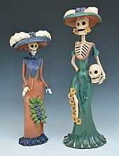 Day of the Dead Katrina Pottery Figures, tallest 23