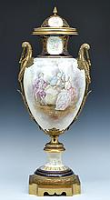 Monumental Sevres Style Covered Urn, 36.5
