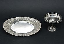Sterling Silver Tray & Compote