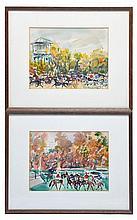 Pierre Gaillardot (French 1910-2002) 2 Watercolors