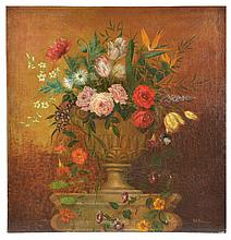 19th c English School, Still life, indist signed lower right