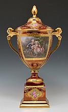 Royal Vienna Covered Urn, 21.75