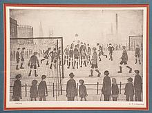 L.S. Lowry, The Football Match, signed