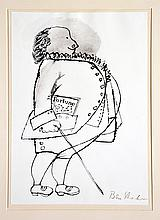 Ben Shahn, Pen and Ink Drawing,
