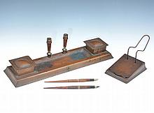 Dirk Van Erp Copper Desk Set & Matching Calendar