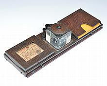 Roycroft Hammered Copper Inkwell & Deskset