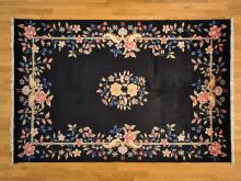 Chinese Rug Floral Design Art Deco 6'x9' Hand Knotted 100% Wool