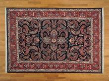 7'x10' Signed Fine Persian Sarouk Oriental Rug Hand Knotted 100% Wool