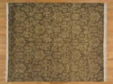 8'x10' Modern Nepali Tone on Tone 100% Wool Oriental Rug Hand Knotted