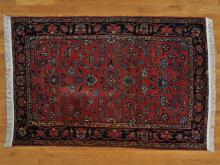 5'x7' Antique Persian Sarouk Some Wear Hand Knotted Oriental Rug