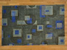 5'x8' Geometric Design Modern Nepali Oriental Rug Handmade 100% Wool