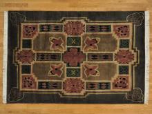 6'x8' Handmade Arts and Crafts Tibetan Modern Oriental Rug 100% Wool